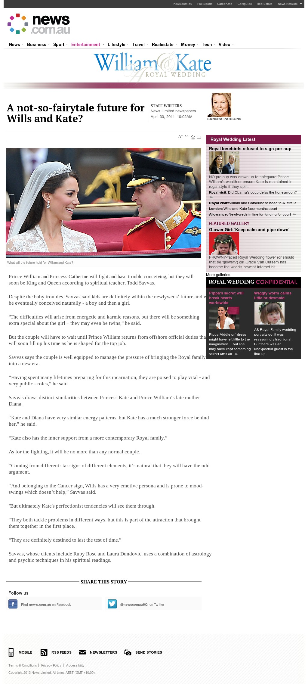 News.com.au - Entertainment - Royal Wedding 30042011