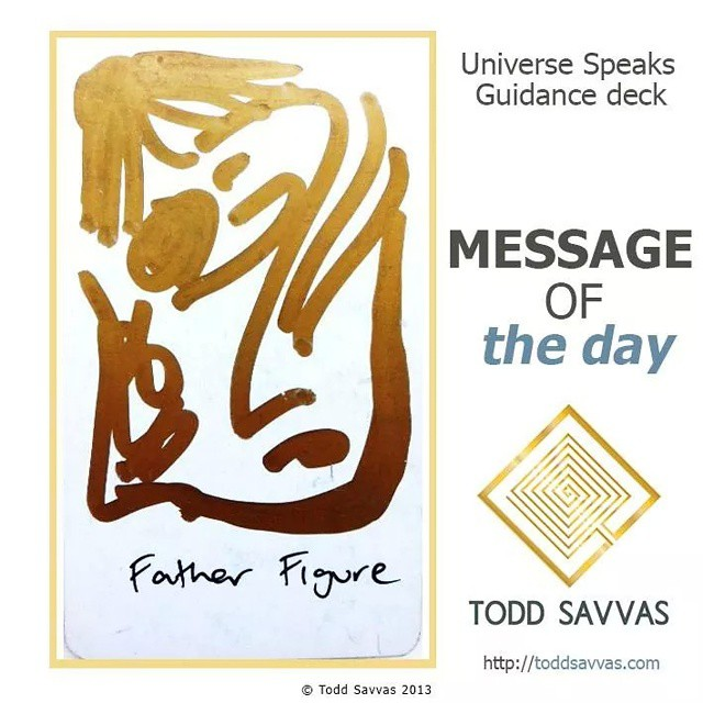 """Today's card asks you to look to your fatherly archetype. This could be your actual father, or it could be someone who stood in to fill those shoes.  MESSAGE OF THE DAY: """"FATHER FIGURE""""  Your fatherly energy has influence over how you make money, whether you hold onto money and whether you feel safe and respected in the world.  So, if you have issues, or had issues with your father archetype it typically manifests itself through blockages in those particular life arenas.  How do you step around that? A good start is to look at people you consider to be good fathers, in the media and people you know personally. Visualise what It would have been like to have had that type of fatherly influence in your own childhood.  If you can link up the missing steps you can create a new pathway for that energy to find you. After all; you've had many lifetimes. Some you've been the father, others you've been the son and it worked out perfectly.  Find more posts, rituals and information on private sessions on my website.  http://facebook.com/ToddSavvasTeaching  #father #masculine #energy #healing #magick #money #finances #business #ritual #spirit #spiritual #source #consciousness #wicca #witchcraft #occult #occultism #mysticism #mysteries #love #happiness #freedom #oprah #ellen #toddsavvas #sage #healer #mystic #PSYCHIC"""