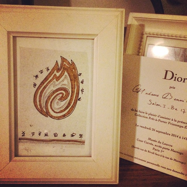 Just saw one of my personal amulets I drew framed and next to a Dior Paris invite. That's where it should be. #toddsavvas #spirit #spiritual #spirituality #esoteric #pagan #tarot #tarotoftheday #ellen #oprah #passion #love #art