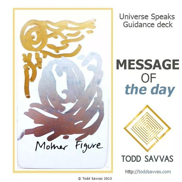 """Today's card prompts you to focus on self-healing and self-nurturing. Basically what your Mother archetype should have taught you.  MESSAGE OF THE DAY: """"MOTHER FIGURE""""  Whenever the mother archetype has a flaw in it, because of the individuals personal experience or desired path, the child experiences a blockage and flaw in their energetic makeup.  This then becomes the destiny of the individual to heal this flaw and to expand beyond the need for that parent and find their fullness within.  Many people experience long held issues because of these types of dynamics, however those who follow a spiritual approach to healing receive it quickly and permanently.  Mother yourself today, ask what you need and give it to yourself. Encourage others to do the same and don't ask, need or even want another to nurture you – today, be your everything.  http://facebook.com/ToddSavvasTeaching  #mother #feminine #masculine #energy #magick #spirit #source #spiritual #healing #alchemy #love #connection #unity #consciousness #meditation #occult #occultism #mysticism #wicca #witchcraft #astrology #tarot #oprah #ellen #toddsavvas #sage #POWERFUL"""