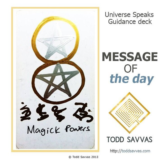 Today is all about your personal Magick. So I'd recommend practicing your craft!  MESSAGE OF THE DAY: