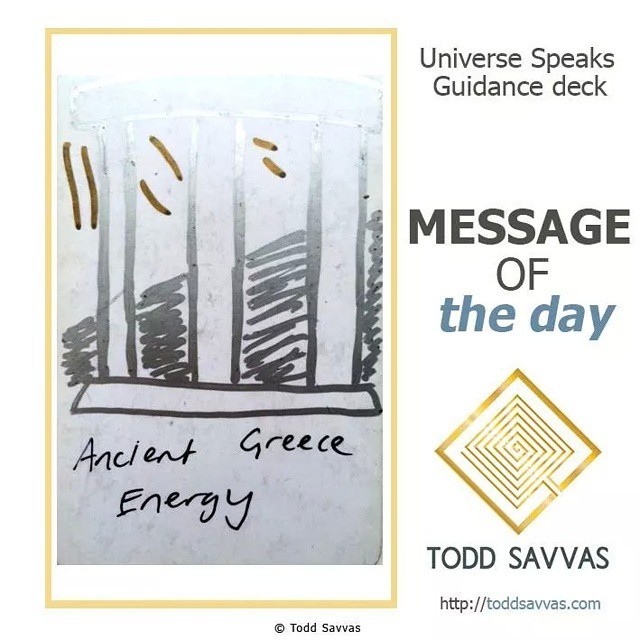 """Today the collective consciousness is tapping into ancient Greece and all of the power that's been left there.  MESSAGE OF THE DAY: """"ANCIENT GREECE ENERGY""""  When this occurs it means that you will benefit from delving into the myths of ancient Greece and find a connection with one of the Gods.  It also means that you may be visited by memories or dreams of your past lives and experiences in ancient Greece, all in aid of helping you evolve and develop.  To truly get the most out of this day, take some time out to meditate on Greece and any God or Goddess who spring to mind. There's much power to be claimed!  MEDITATION OF THE DAY: """"I receive wisdom and power from ancient Greece and her Gods""""  Find more posts, rituals and information on private sessions on my website.  http://facebook.com/ToddSavvasTeaching  #spirituality #spiritual #motivational #pagan #esoteric #god #goddess #goddesses #godoftheday #witch #wicca #wisdom #meditation #oracle #toddsavvas #reiki #tarot #tarotoftheday #astrology #angel #love #picoftheday #photooftheday #instadaily #instagood #youtube #vlog #vlogger #inspirational"""