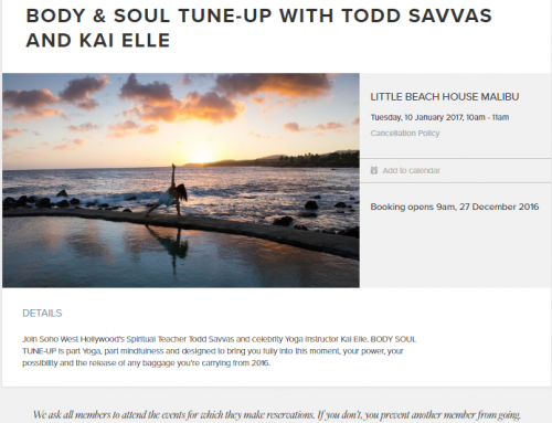 EVENT: LITTLE BEACH HOUSE MALIBU – BODY & SOUL TUNE-UP