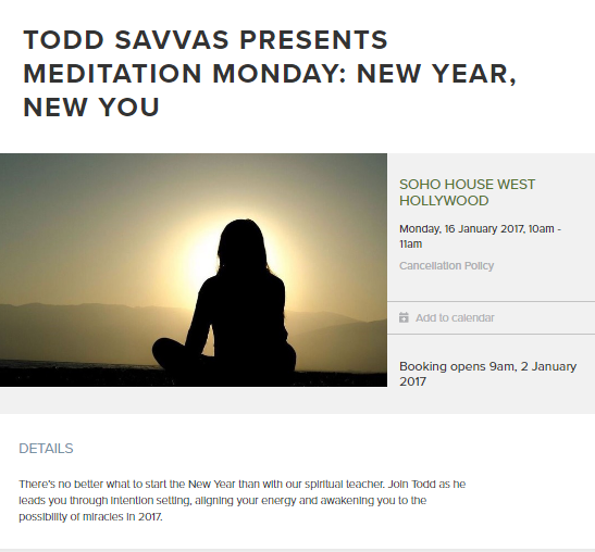 EVENT: Soho House West Hollywood – NEW YEAR, NEW YOU